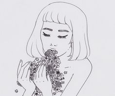 They say you are what you eat, so I eat flowers so that I could become beautiful, too.