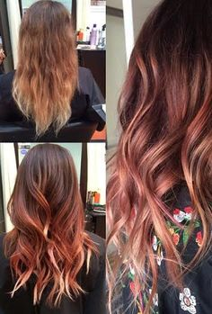 ******THIS ONE - rose gold highlights/balayage - might be too extreme?