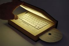 Laptop designed to look like a real book.