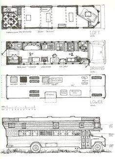 20 Wild And Wonderful School Bus Camper Interior And Plans Ideas To Nostalgic 7 - Van Life School Bus Tiny House, Magic School Bus, School Buses, School School, Motorhome, Camper Interior Design, Bus Interior, Kitchen Interior, Bus Remodel