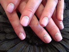 Natural nail gel overlay with glitter | Nail Art Ideas