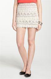 Lush Banded Crochet Skirt (Juniors)