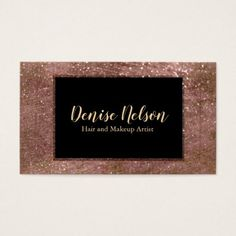 Trendy  Rose Gold Glitter Business Card - rose gold style stylish diy idea custom