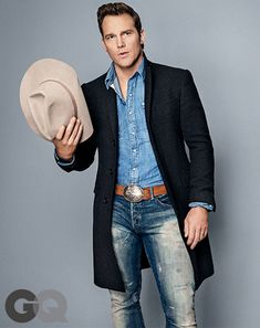 Coat by Ralph Lauren Black Label. Shirt and jeans by Polo Ralph Lauren. Hat by Stetson at JJ Hat Center.