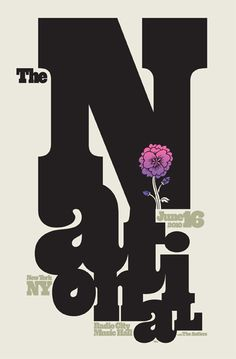 The National/ The Antlers - gig poster by Spike Press