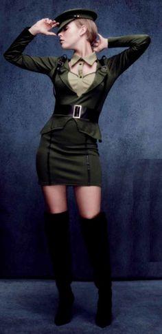 Disfraz de Mujer Capitán Militar #Costume #Sexy