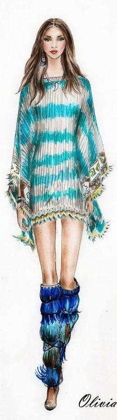 Fashion Illustration Watercolor 2015-2016
