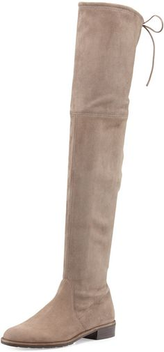 The Curaate || In Transition - Stuart Weitzman Lowland Suede Over-the-Knee Boot, Praline