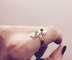Rings: Artemisia R. 3mm  Granada & Citrine