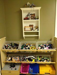 multi bin toy organizer | DIY: Create a Tiered Multi-Bin Toy Storage Organizer. For about the ...