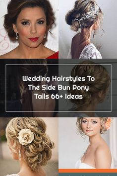Wedding Hairstyles To The Side Bun Pony Tails 66+ Ideas Side Hairstyles, Wedding Hairstyles, Wedding Hair Side, Pony Tails, Hair Styles, Ideas, Hair Plait Styles, Side Up Hairstyles, Hair Makeup