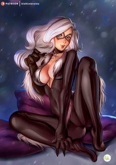 ArtStation - Black Cat - Felicia Hardy|Spiderman Marvel Fanart, Didi Esmeralda