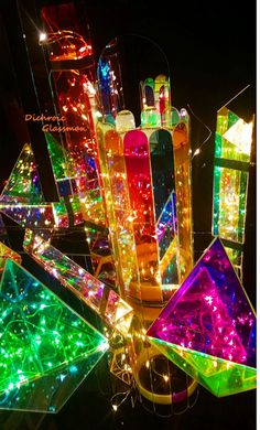 A Cinderella City of Beautiful Dichroic Boro glass reflections as Infinity Mirror Effects