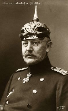 Gen Field Marshal Helmuth Johann Ludwig von Moltke also known as Moltke the Younger, was a nephew of Field Marshal Count Moltke and served as the Chief of the German General Staff from 1906 to 1914. Shortly after the outbreak of the war, his health deteriorating, Moltke was shifted out of the C-in-C post and was given command of the interior reserve army. His health though deteriorated further and he died in 1916, ironically during the funeral of another senior field marshal.