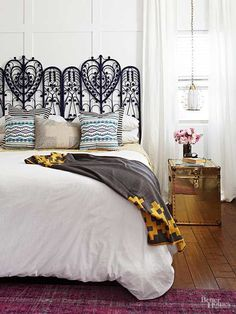 DIY faux paneling gives depth to your space.