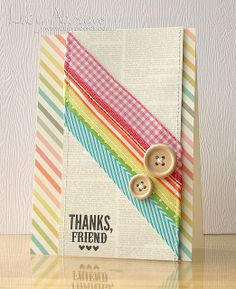 Awesome Card Created by Lucy using a Simon Says Stamp Sentiment. 2013