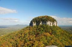 Approach from any direction and see Pilot Mountain rising more than 1,400 feet above the rolling countryside of the upper Piedmont plateau. Dedicated as a National Natural Landmark in 1976, this solitary peak is the centerpiece of Pilot Mountain State Park.