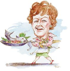 """""""The only real stumbling block is fear of failure. In cooking you've got to have a what-the-hell attitude. Jacque Pepin, Child Life, Team Building, I Fall In Love, Caricature, All Art, Art Pictures, Art History, Julia Childs"""