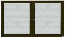 ODCC3660RBA. Outdoor Enclosed Bulleting Board with Aluminum Frame. Back Panel is Burlap Weave Vinyl, Frame is Bronze Anodized Aluminum. 36″Hx60″W. Two Door