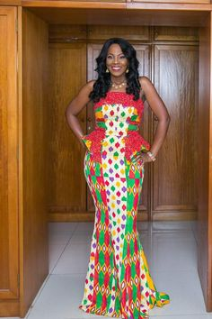 Kente styles is one of the most popular African dressing styles, with its popularity traced back to Ghana.To sum it up, we would prove that the Kente is BAE African Dresses For Women, African Wear, African Attire, African Fashion Dresses, African Women, African Style, African Beauty, African Outfits, African Clothes