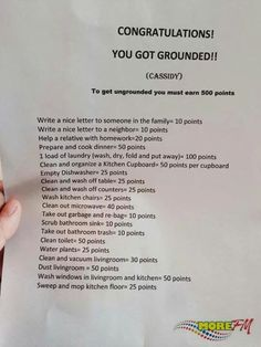 Congratulations you got grounded!