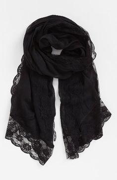 black lace border scarf