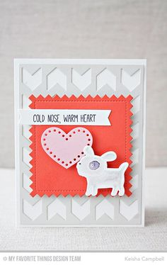 Top Dog, Chunky Chevron Cover-Up Die-namics, Stitched Pinking Edge Square STAX Die-namics, Stitchable Heart STAX Die-namics, Top Dog Die-namics - Keisha Campbell #mftstamps