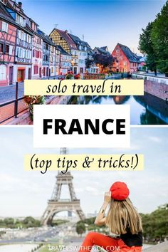 Are you planning a solo trip to France?! Click through to learn the top nine things you need to know before travelling alone in France. I'm spilling my insider tips and tricks after multiple solo trips to France, so you don't make the same mistakes I did! We cover budget tips, transportation times, time-saving tips, and safety tips. It is your one-stop guide to everything you need to know about travelling alone in France. Even if you're just taking a solo trip to Pa via @Travels with Erica Road Trip Europe, Europe Travel Guide, Solo Travel Tips, Travel Goals, France Destinations, Travel Destinations, European Vacation, European Travel, Time Saving