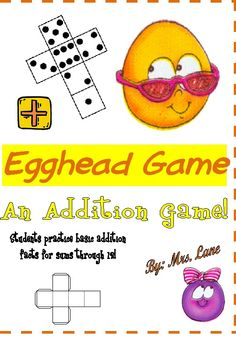 Egghead Addition Game! (For Elementary)