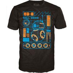 Star Wars Star Wars Episode VII POP! BB-8 Blueprint T-Shirt