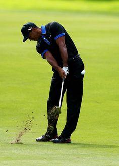 Tiger Woods - PGA Championship practice round - August 05, 2013