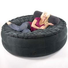 Smart Air Beds Sumo Sized Inflate-a-Sac 4-in-1 Ultimate Inflatable - Jumbo Air Bed, Super Beanless Bean Bag Chair/Cocoon Chill Chair, Love Seat Sofa  Lounger