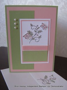 sweet summer stampin up cards - Google Search Fun Crafts, Paper Crafts, Butterfly Cards, Stamping Up, Creative Cards, Diy Cards, Stampin Up Cards, Cardmaking, Christmas Cards