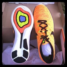 timeless design 4c9ad 1ed6e Nike Shoes | Nike Flyknit Lunar 3 Voltblack Bright Crimson 11 | Color: Gold/ Orange | Size: 11