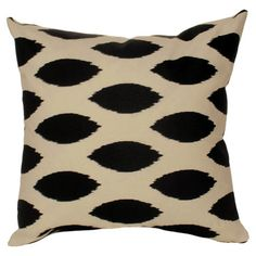 Cotton pillow with an ikat dots motif.   Product: Set of 2 pillowsConstruction Material: Cotton and poly fill