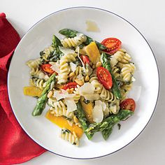 Spinach-Artichoke Pasta with Vegetables | CookingLight.com #myplate #vegetables #dairy