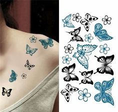 Kelebekler Geçici Dövme, Tattoo, Temporary Tattoo