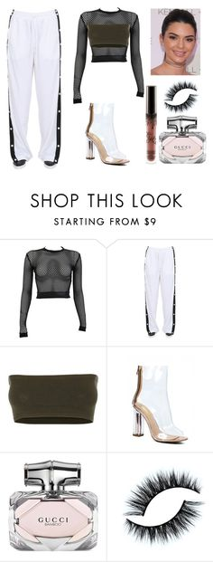 """kendall jenner"" by aleah00 ❤ liked on Polyvore featuring PAM, Puma, Versace and Gucci"