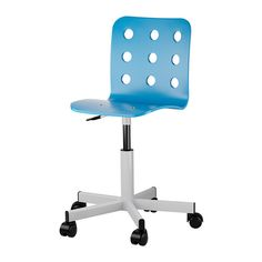 Craft area: $35 JULES Junior desk chair IKEA You sit comfortably since the chair is adjustable in height.