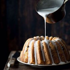 Chai-spiced Bundt cake with rum raisins and rum glaze (why not )