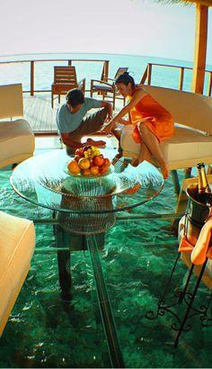 Glass Floor Ocean Cottage, Maldives