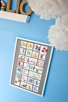 Zur Einschulung als Alphabet Poster?  
