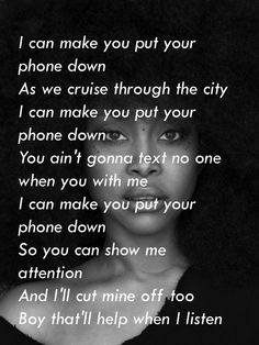 Phone Down / Erykah Badu Rap Quotes, Sign Quotes, Erykah Badu Quotes, Put Your Phone Down, My Black Is Beautiful, Life Lessons, You And I, I Can, Insight