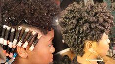 Tapered Haircut + Perm Rod Set on 4C Natural Hair || Chizi Duru