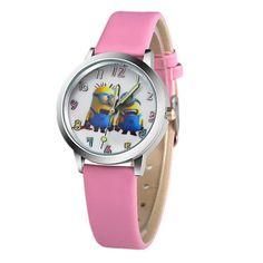 ceb12dd04 2018 Pattern cute cartoon Children's Watch Hot Cartoon Leather Strap  Fashion Kids Quartz Wristwatch Boys Girls