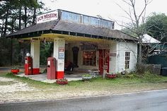 old gas stations | Enter the UCM through this vintage gas station