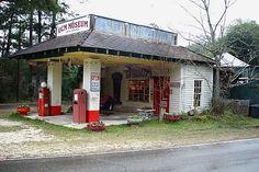 Abita Mystery House vintage gas station