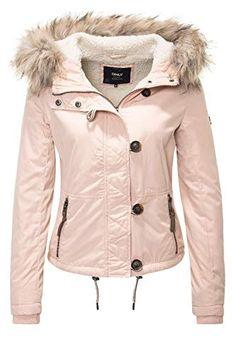 ac4f1b1ac6579c ONLY Damen Jacke onlPEYTON AW Short FUR Jacket CC OTW, Rosa Cameo Rose, 36
