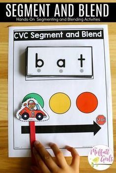 How to Teach the Alphabet Segment and Blend CVC Words- Teach letter recognition and letter formation, and move to reading with this fun phonics activity! Fun for Preschool and Kindergarten! Alphabet Kindergarten, Teaching The Alphabet, Kindergarten Lesson Plans, Teaching Phonics, Kindergarten Activities, Kindergarten Phonics, Phonics For Preschool, Kindergarten Word Work, Kindergarten Procedures