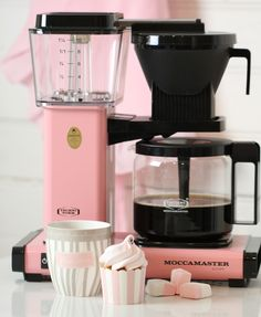 Pink moccamaster. I want this even though I don't drink coffee...